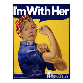 Hillary Clinton I'm With Her! Postcard