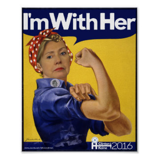 Hillary Clinton I'm With Her! Poster
