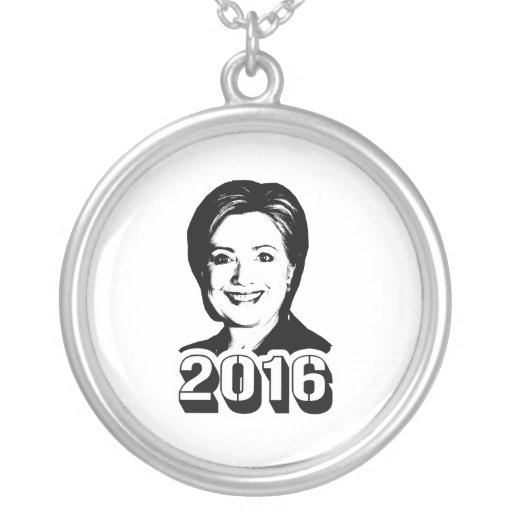 HILLARY CLINTON IN 2016 PERSONALIZED NECKLACE