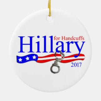 Hillary Clinton in Prison Christmas Tree Ornament