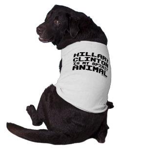 Hillary Clinton is my spirit animal Sleeveless Dog Shirt