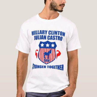HILLARY CLINTON JULIAN CASTRO  STRONGER TOGETHER T-Shirt