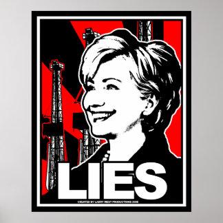 Hillary Clinton: LIES! Poster
