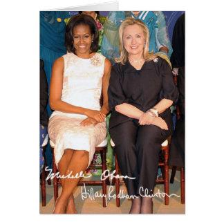 Hillary Clinton & Michele Obama Card