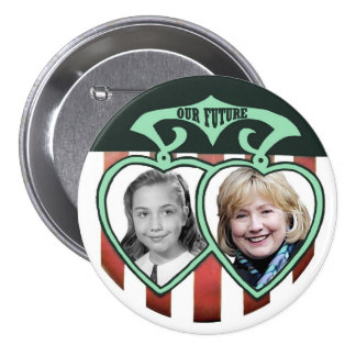 Hillary Clinton: Our Future 7.5 Cm Round Badge