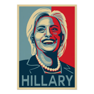 Hillary Clinton Poster - Obama Hope Style