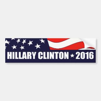 Hillary Clinton President 2016 American Flag Bumper Sticker
