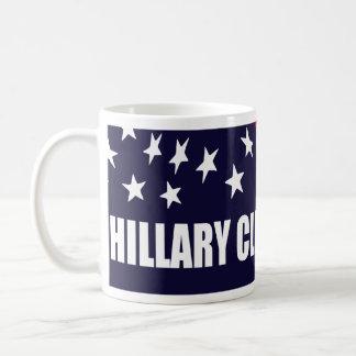 Hillary Clinton President 2016 American Flag Basic White Mug