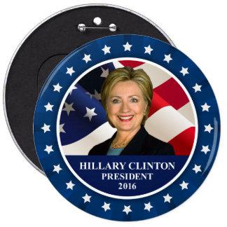 Hillary Clinton President 2016 Blue Jumbo Button