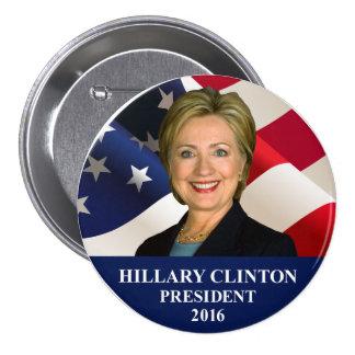 """Hillary Clinton President 2016 Button Pin 3"""""""