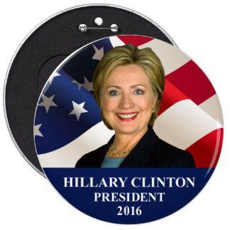 Hillary Clinton President 2016 Jumbo Button Pin
