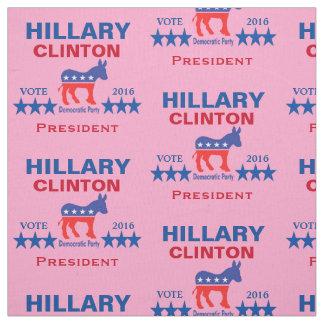 Hillary Clinton President 2016 Pink Fabric