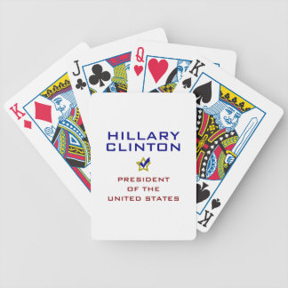Hillary Clinton President USA V2 Bicycle Playing Cards