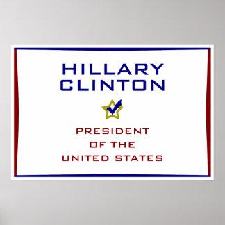 Hillary Clinton President USA V2 Print
