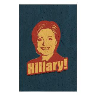 HILLARY CLINTON PROPAGANDA CORK PAPER PRINT