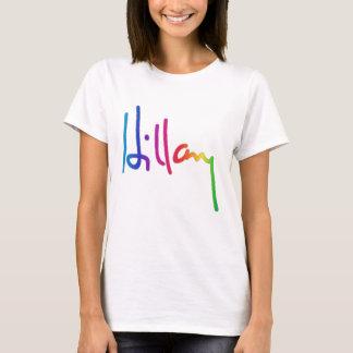 Hillary Clinton Signature Rainbow Pride T-Shirt