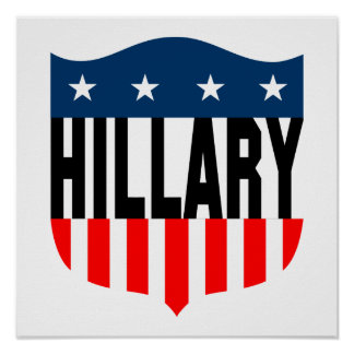 hillary clinton stars and stripes poster