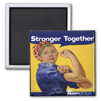Hillary Clinton Stronger Together Square Magnet