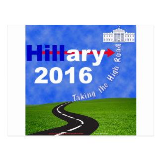 Hillary Clinton Taking the High Road Postcard