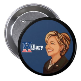 Hillary Clinton Twenty Sixteen 7.5 Cm Round Badge