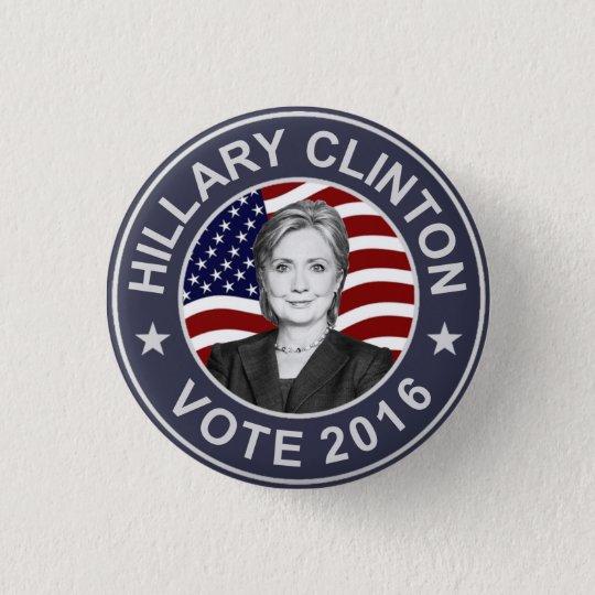 Hillary Clinton US Flag 3 Cm Round Badge