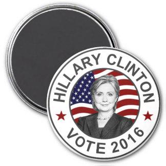 Hillary Clinton US Flag 7.5 Cm Round Magnet