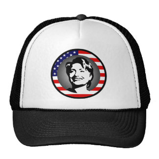 hillary clinton : us flag : mesh hats