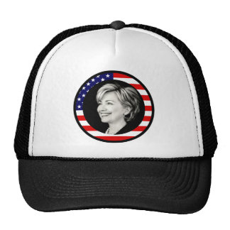 hillary clinton : us flag : picturesque : hat