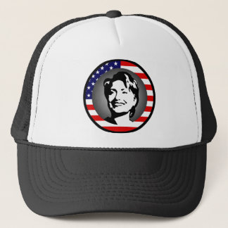 hillary clinton : us flag : trucker hat