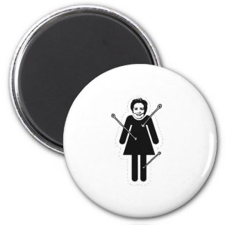 Hillary Clinton VooDoo Doll Only 6 Cm Round Magnet