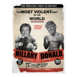 Hillary Clinton vs Donald Trump 2016 Postcard
