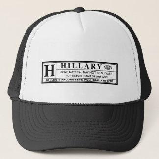 Hillary Clinton warning label Trucker Hat