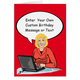 Hillary Email Card - Customize Your Message - - El