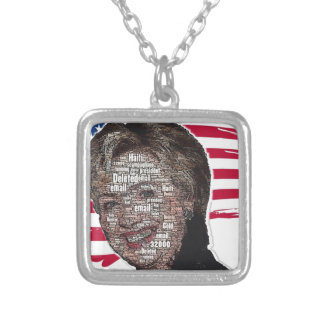 Hillary Email Scam Image Square Pendant Necklace