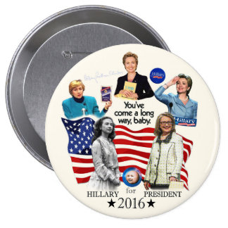 Hillary for President 2016 10 Cm Round Badge