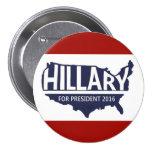 Hillary for President 2016 7.5 Cm Round Badge