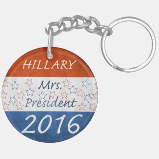 Hillary for President 2016 Double-Sided Round Acrylic Keychain