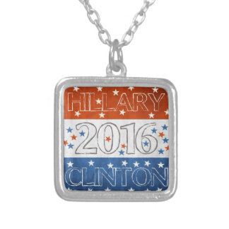 Hillary for President 2016 Square Pendant Necklace