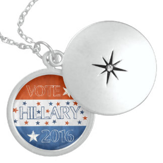 Hillary for President 2016 Round Locket Necklace