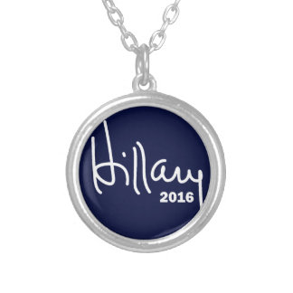 Hillary For President 2016 Round Pendant Necklace