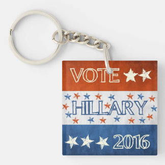 Hillary for President 2016 Single-Sided Square Acrylic Key Ring
