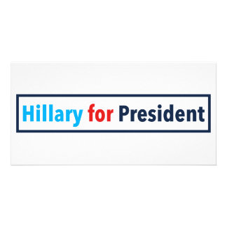 Hillary for President (Choose Your Own Color) Photo Cards