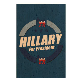 HILLARY FOR PRESIDENT DEMOCRATS CORK PAPER