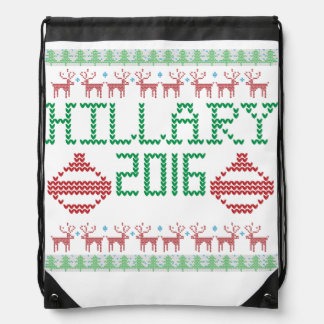 Hillary for President in 2016 Ugly Holiday Sweater Backpacks