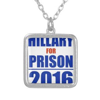 Hillary for Prison 2016 Square Pendant Necklace