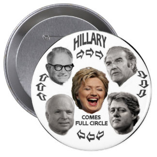 Hillary Full Circle 4-Inch Button