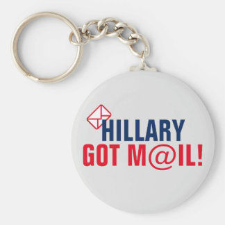 Hillary Got Mail! Basic Round Button Keychain