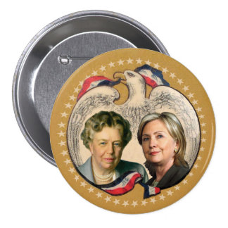 Hillary & her heroine 7.5 cm round badge