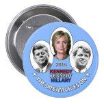 Hillary, JFK & RFK 7.5 Cm Round Badge