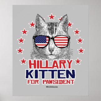 Hillary Kitten for Pawsident Poster